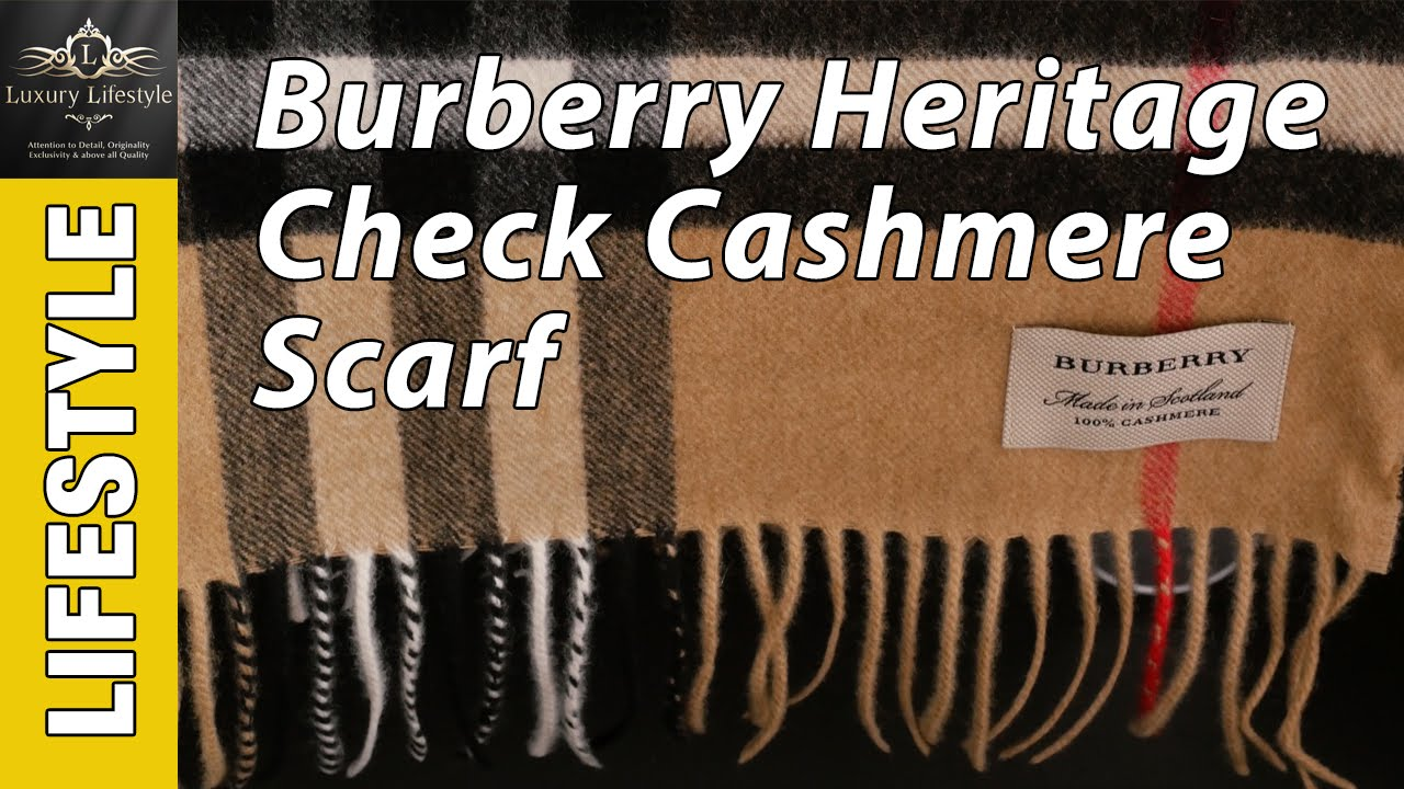 61f2133eee3a Burberry Heritage Check Cashmere Scarf • Luxury Lifestyle Channel - YouTube