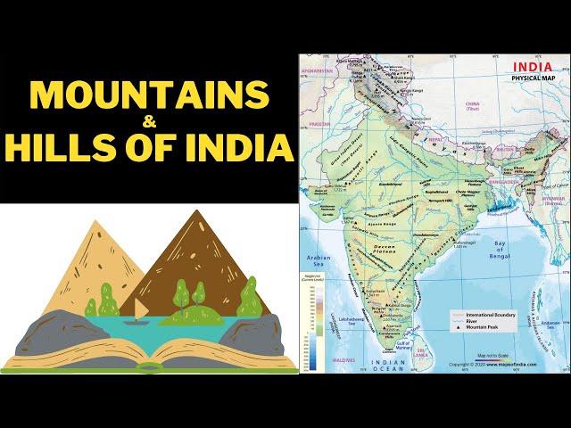 Important Mountains and Hills of India | CDS, NDA, AFCAT, CAPF, Airforce, Navy | Defence Taiyari