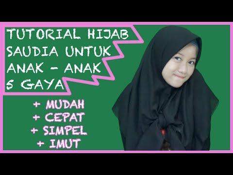5 Gaya Hijab Saudia Untuk Anak - Anak Simple and Cute #NMY Hijab Tutorials