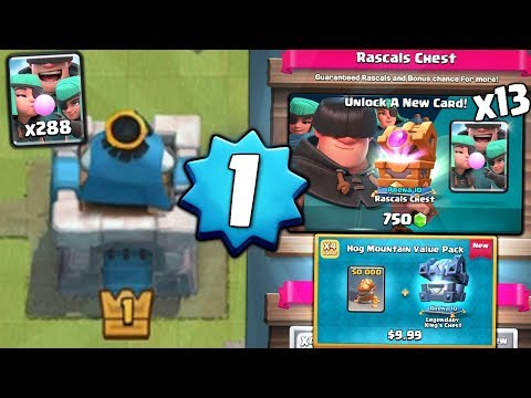 LEVEL 1 UNLOCKS NEW RASCALS! OPENING x13 NEW RASCALS CHESTS! | Clash Royale NEW CHEST OFFER OPENING!