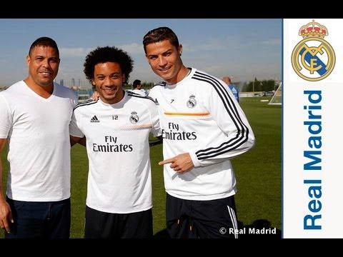 Ronaldo Nazario da Lima acudió a la Ciudad Real Madrid