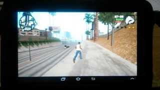 GTA San Andreas (Android) rodando no Samsung Galaxy T 2 (GT-P3110) + ...
