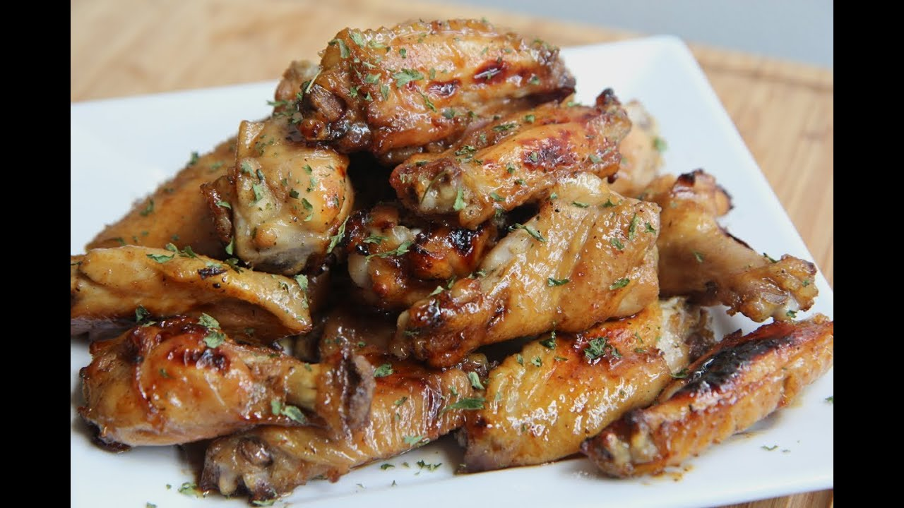 Tangy baked chicken wings recipe youtube forumfinder Images