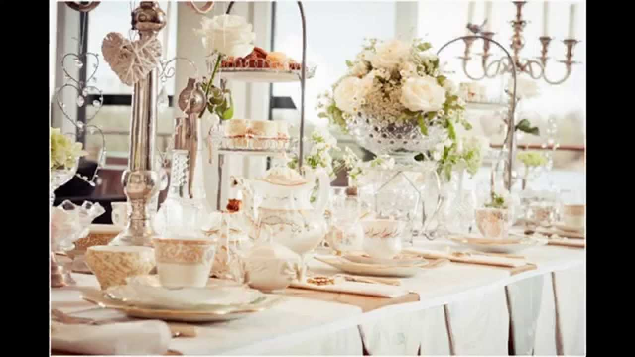 Vintage tea party ideas - Home Art Design Decorations - YouTube