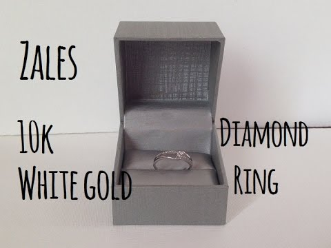 10k White Gold diamond ring (From Zales) - YouTube