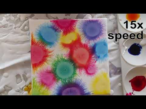 034 Experiments with Printer Ink -  Fractals and Flip Cup