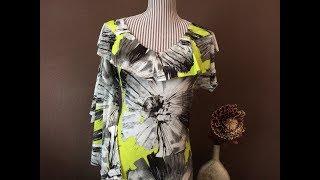 Платье с воланом/Как скроить волан/Сшить платье из трикотажа