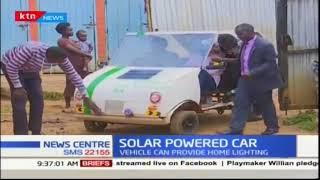 Kenyan uses solar power to driver car