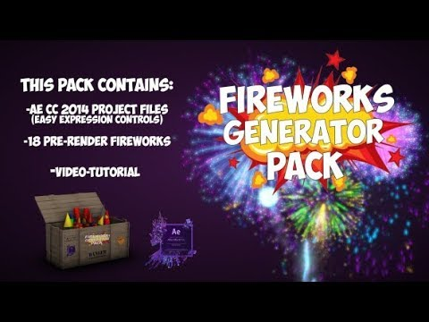 Hive Fireworks Free After Effects Template