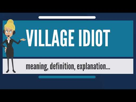 What is VILLAGE IDIOT? What does VILLAGE IDIOT mean? VILLAGE IDIOT meaning, definition & explanation