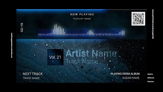 Audio Spectrum / Music Visualizer Concept S21 (Flying Spheres)-FREE After Effects Template Download