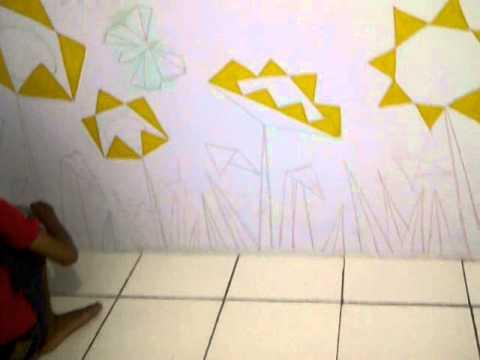 Lukis Tembok Sekolah Bunga Matahari Ciputat Youtube