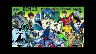 Ben 10 Ultimate Alien VS Ben 23 Dimension Alien Comparison HD 720 2018