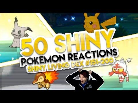 50 INSANE Shiny Pokemon Live Reactions! | Shiny Living Dex #151-200 | Pokemon Sun and Moon