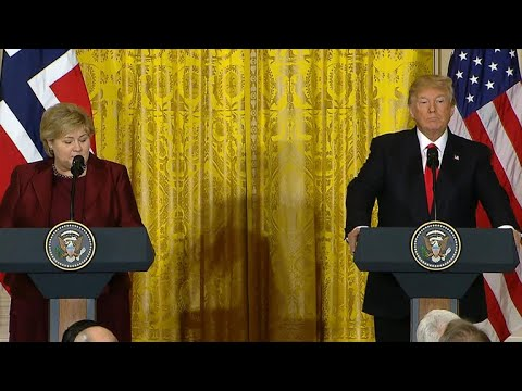 President Trump holds press conference with Norwegian Prime Minister Solberg