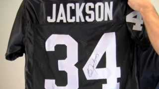 Signed Bo Jackson Los Angeles Raiders Jersey - Tristar & JSA/SM