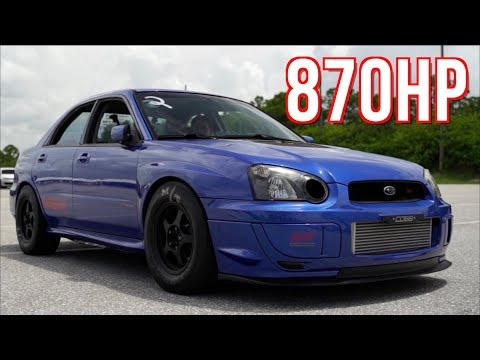Subaru STI Quest For 8's   900HP 80+ Drag Passes!