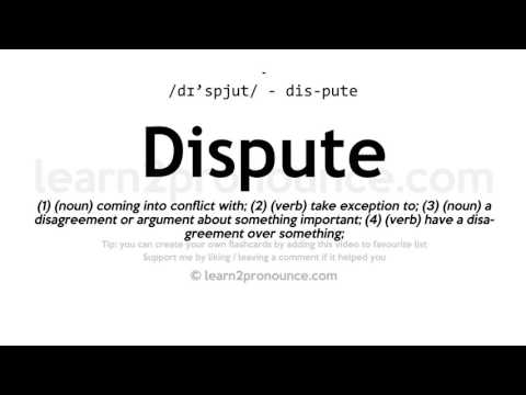 Dispute pronunciation and definition