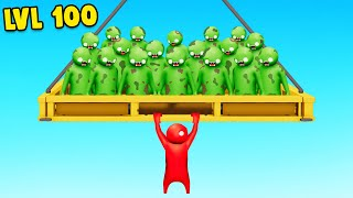 1 vs 100 ZOMBIE HORDE in Gang Beasts!