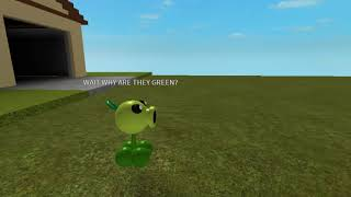 Roblox animation peashooter gets caught by a lot of zombies