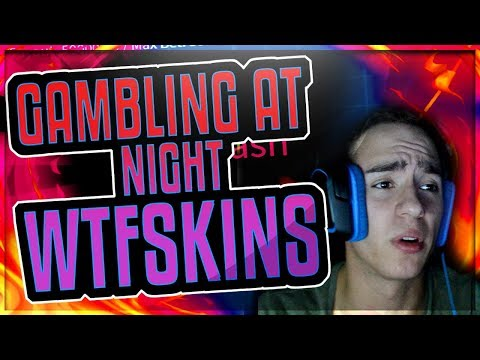 GAMBLING AT NIGHT (I LEGIT HAVE TO WHISPER LOL)(WTF SKINS BETTING VIDEO)  + GIVEAWAY