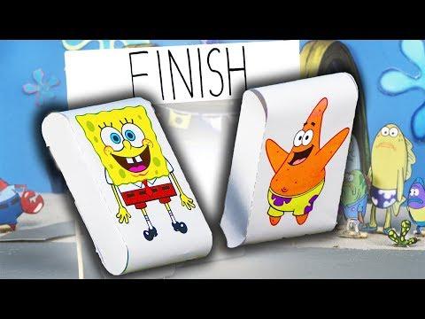 DIY SpongeBob Paper Toy Run