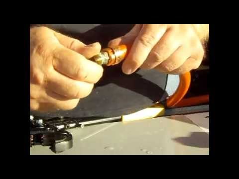 using pex crimp ring to repair air hose youtube. Black Bedroom Furniture Sets. Home Design Ideas