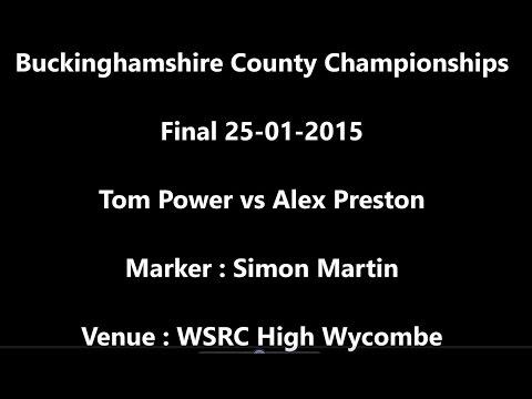 Buckinghamshire Squash Championships 2015 Final