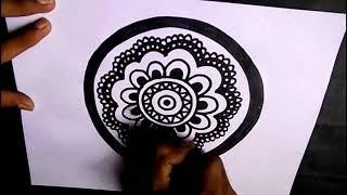 How to draw MANDALA ART for Beginners | Stress Relief Mandala Art