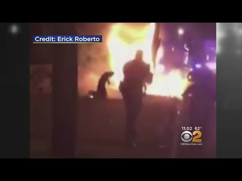 Jersey City Cops Under Fire For Kicking Burning Innocent Bystander After Crash