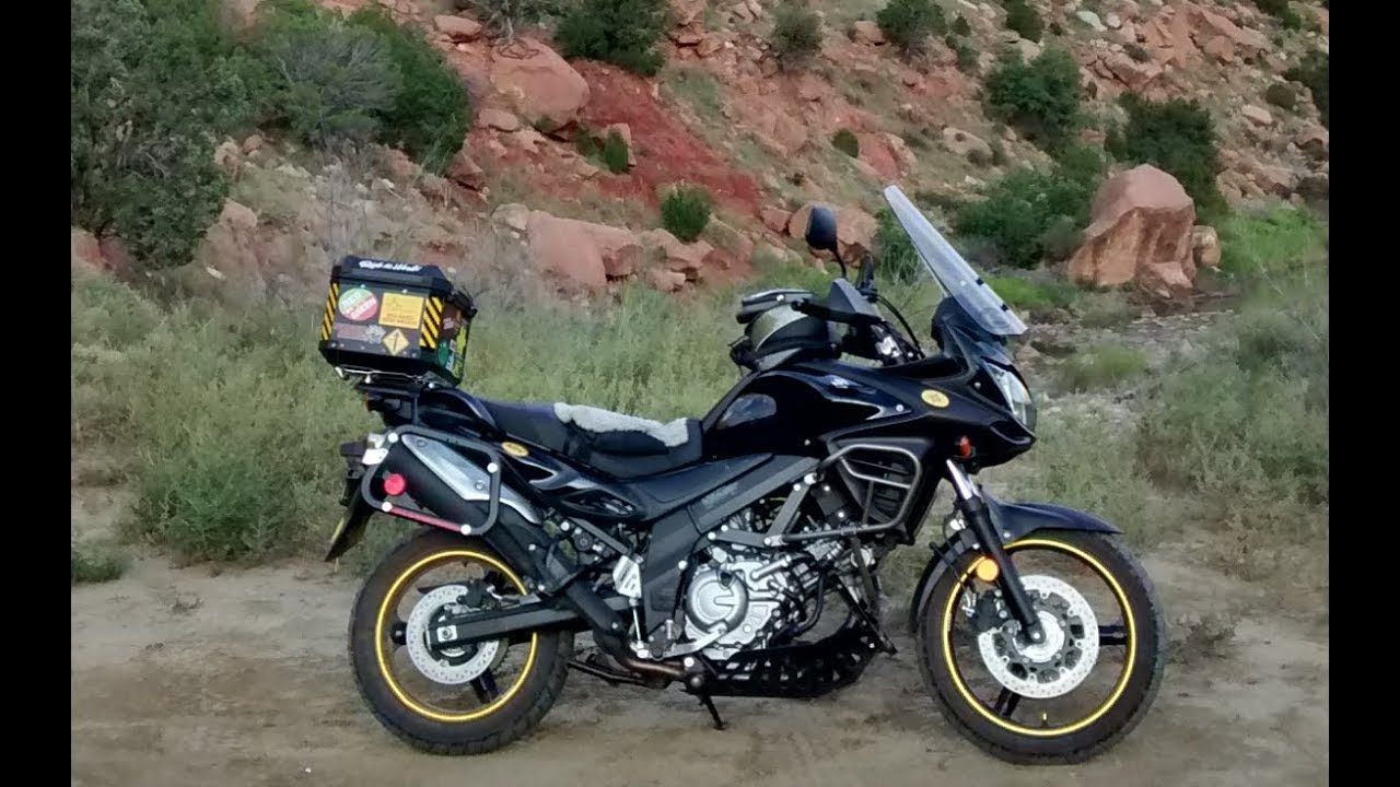 is the suzuki v-strom an adventure bike? - youtube