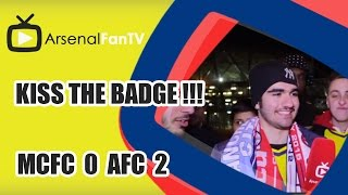 Kiss the badge !!! - Man City 0 Arsenal 2