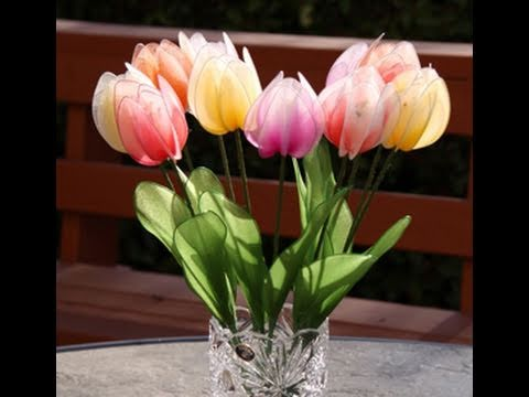 How to Make Nylon Stocking Flower - Tulips