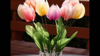 DIY How to Make Nylon Tulips - Nylon flower tutorial  (Stocking flower Tulip)