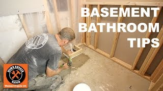 How to Install a Basement Bathroom (Awesome Quick Tips) -- by Home Repair Tutor