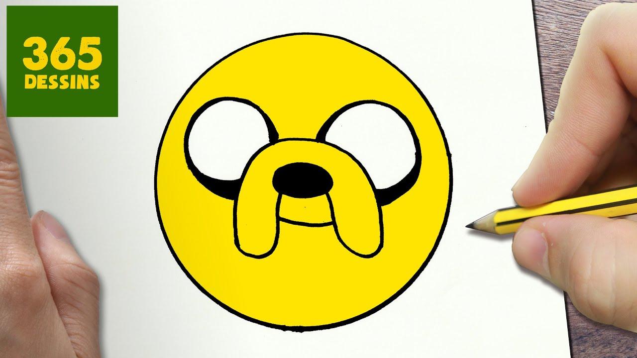 Comment dessiner jake motic ne kawaii tape par tape dessins kawaii facile youtube - Emoticone kawaii ...