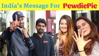 India's Message For PewdiePie Ft.The Hungama Films | PEWDIEPIE VS T-SERIES | Street Interview India