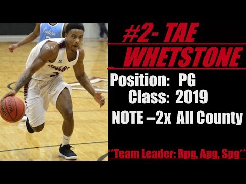 2019-Street Light Recruiting- BBALL PG- Tae Whetstone (All-County)- Shelby County High School