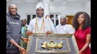 Thank You for Taking Care of 2Face for us – Ooni of Ife Thanks Annie Idibia At his Palace