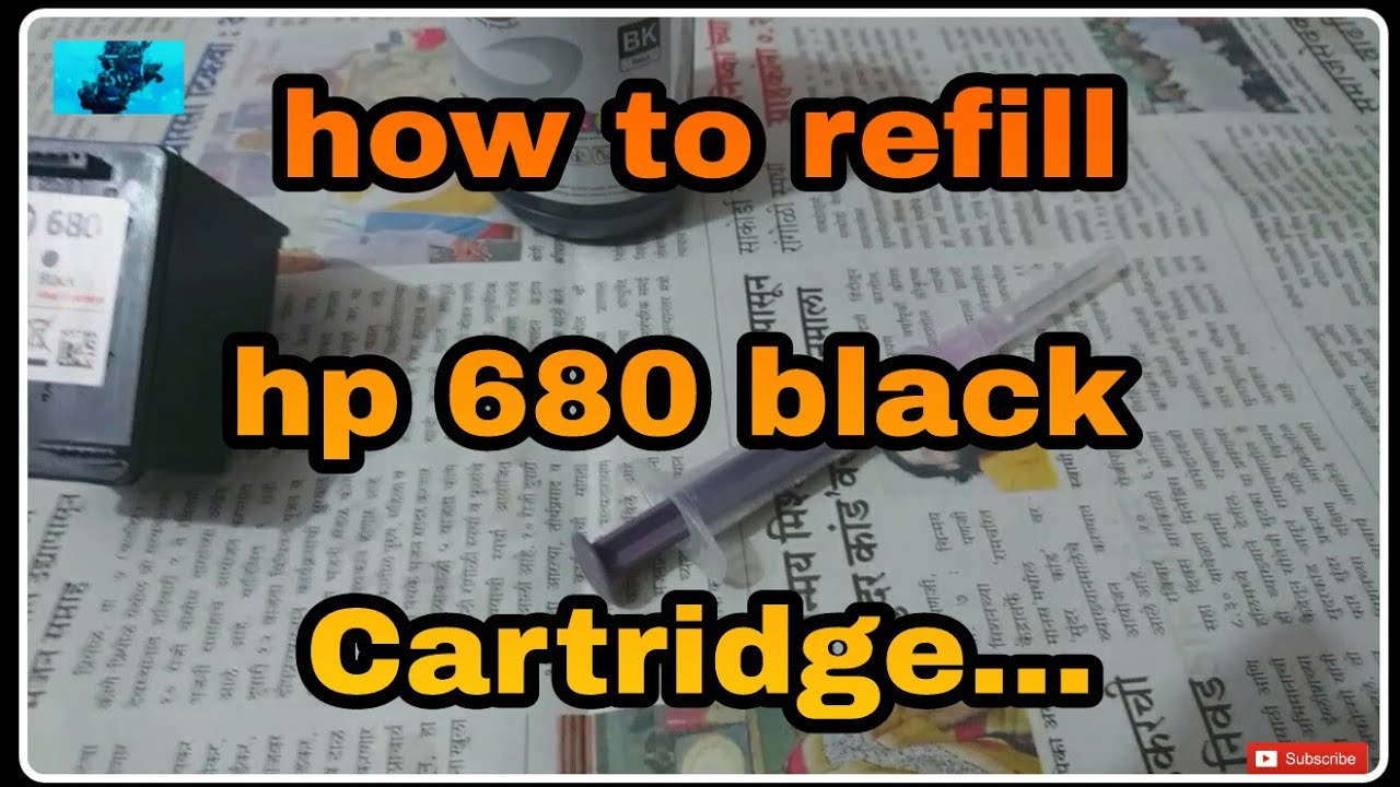 How To Refill Hp 680 Black Cartridge Suhels World Youtube