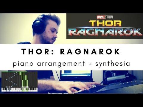 Thor: Ragnarok Soundtrack - Piano Cover (Main Theme and Ragnarok Suite) + Synthesia Tutorial + MIDI