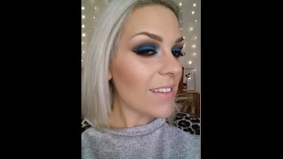 tutorial look noche azul con turquesa/tutorial with turquoise blue evening look