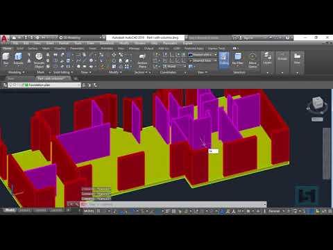 3D House Design in AutoCAD 2018 - Part