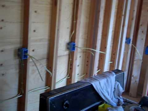 residential electrical rough in for addition part 1 youtube rh youtube com wiring a new room thermostat wiring up a new room