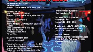 Dreamsville Mod Weekender 2014 DJ Sampler