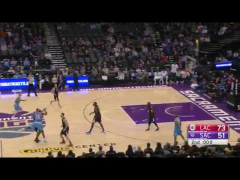 DeMarcus Cousins Halfcourt Buzzer Beater   Clippers vs Kings   Nov 18, 2016   2016 17 NBA Season