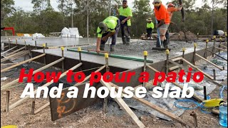 How to pour a concrete patio and house