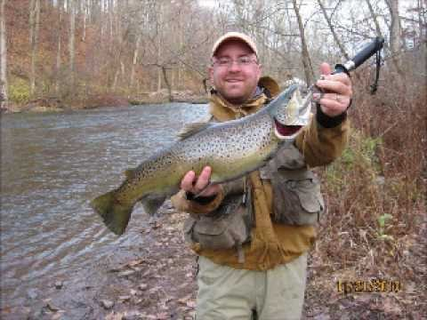 Big trout from the oak orchard youtube for Oak orchard fishing report