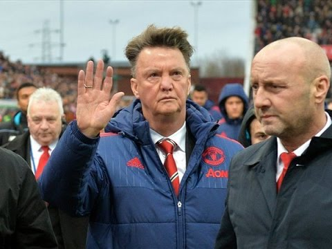 Did Louis van Gaal wave Goodbye to Manchester United fans after Stoke defeat?