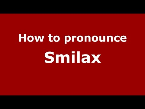 How to pronounce Smilax (American English/US) - PronounceNames.com